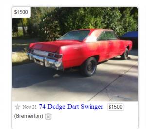 Dodge Dart on Craigslist